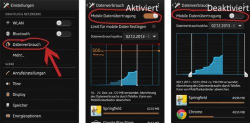 Tutorial: Mobiles Internet unter Android 4 deaktivieren