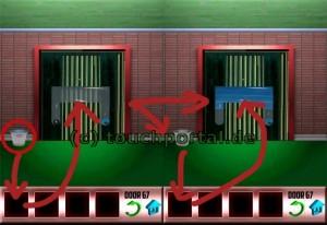 100 Doors Level 67 Lösung