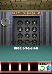 100 Doors Level 72 Lösung