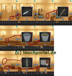 100 Rooms Level 29 Lösung - Schritt 1