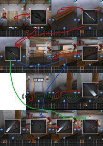 100 Rooms Level 34 Lösung - Schritt 1