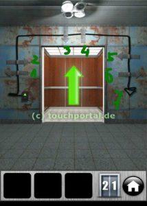 100 Doors Level 21 Lösung