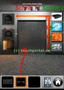 100 Doors Level 25 Lösung