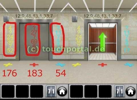 100 Doors 2013 Level 71 Lösung