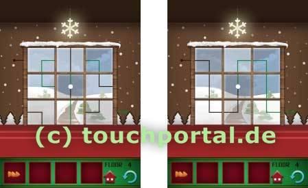 100 Floors Weihnachten Christmas Level 4 Lösung
