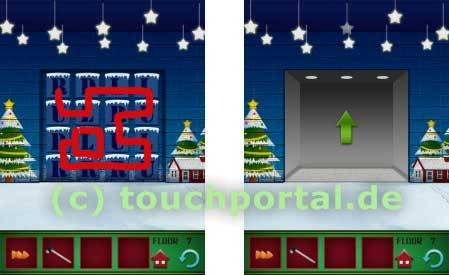 100 Floors Weihnachten Christmas Level 7 Lösung
