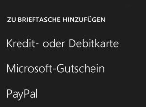 Windows Phone 8 Bezahlen