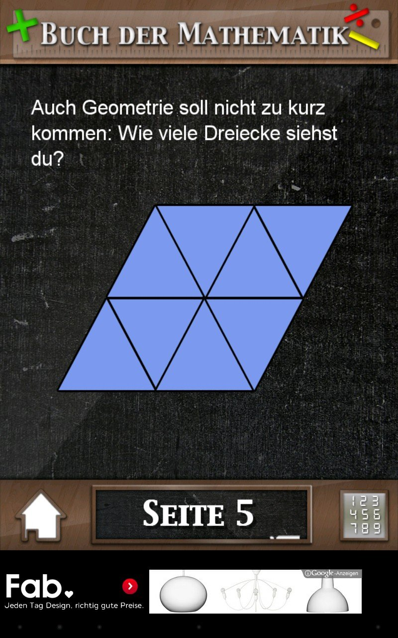 buch der mathematik app des tages f r android app magazin. Black Bedroom Furniture Sets. Home Design Ideas