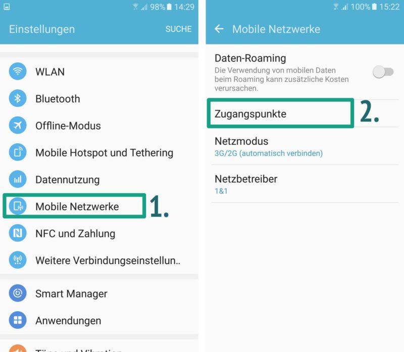 Android Mobiles Internet Funktioniert Nicht Apn Einstellungen