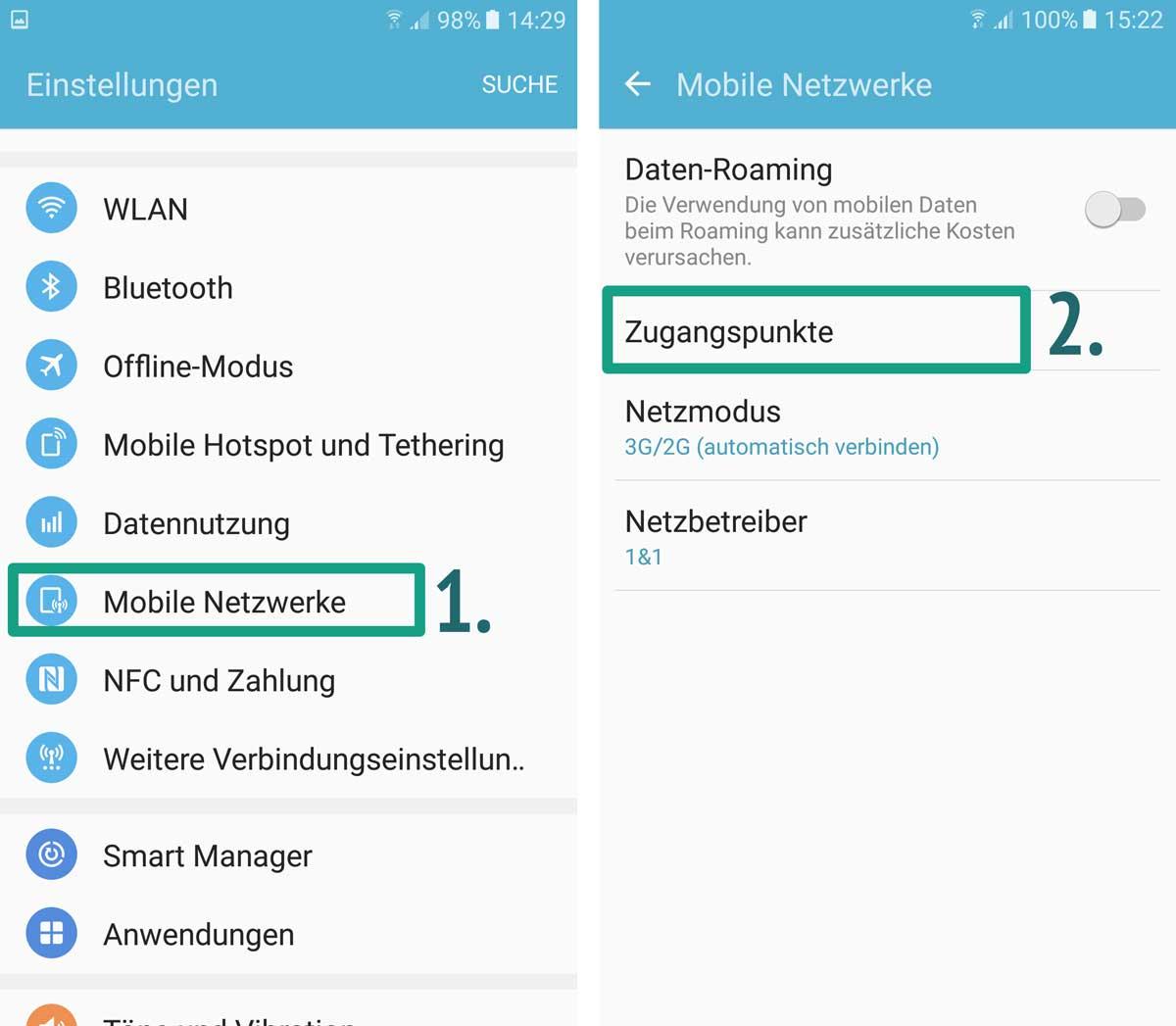 Iphone Einstellungen Mobile Daten - Test