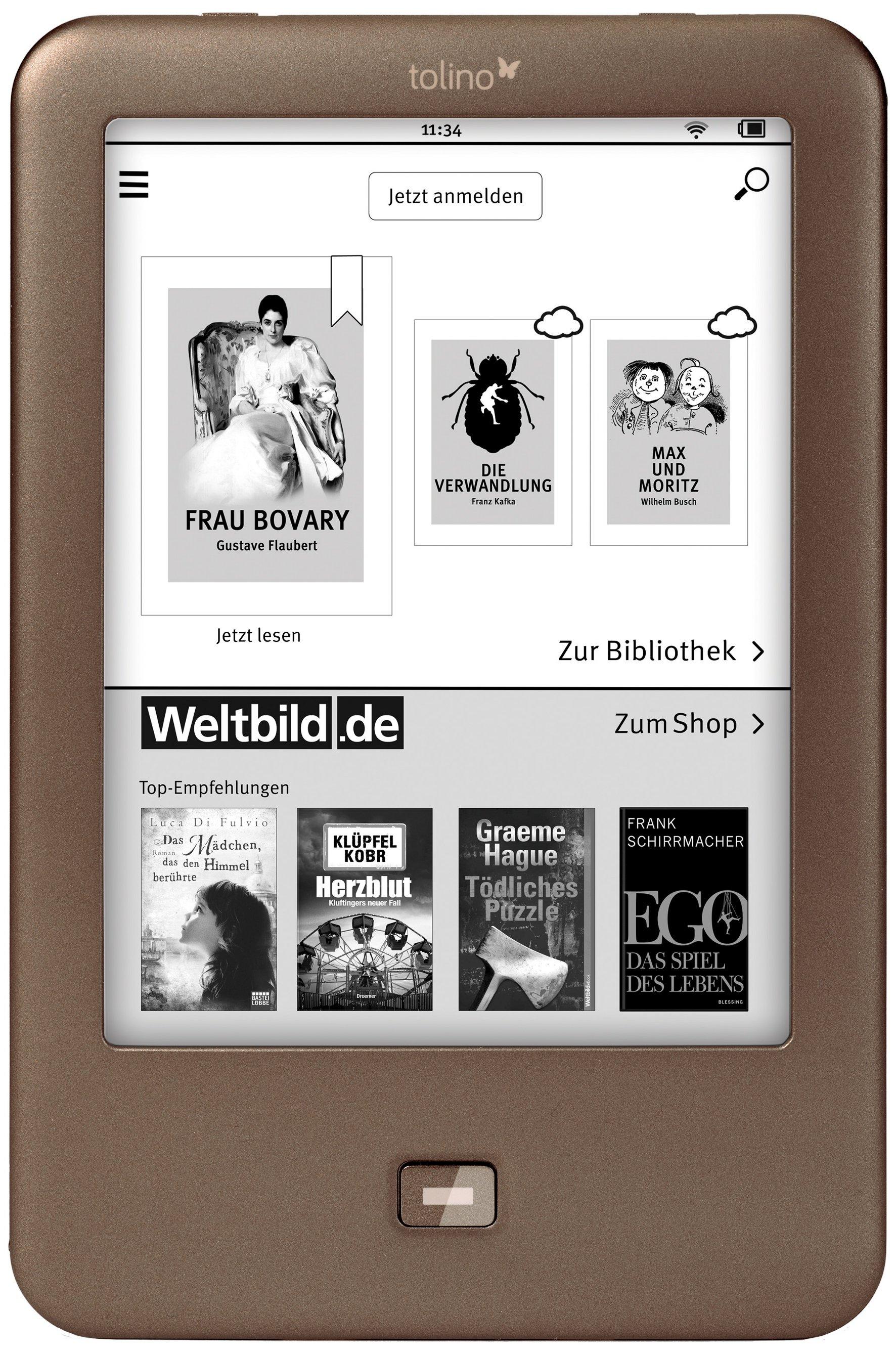tolino shine im test der ebook reader gegen den kindle paperwhite touchportal. Black Bedroom Furniture Sets. Home Design Ideas