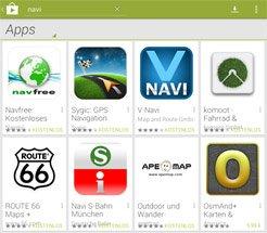 Navi Apps für Android
