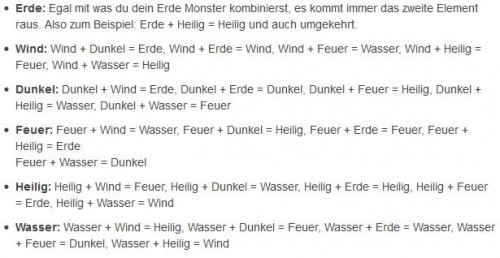 Monster Warlord Liste