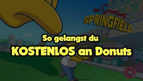 Verschiedene Möglichkeiten vorgestellt, in Simpsons Springfield kostenlos an Donuts zu gelangen