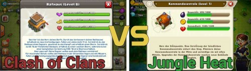 Clash of Clans vs Jungle Heat Vergleich