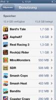 Speicherfressnede Apps finden und löschen