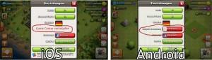 Clash of Clans Verknüpfung - Schritt 1