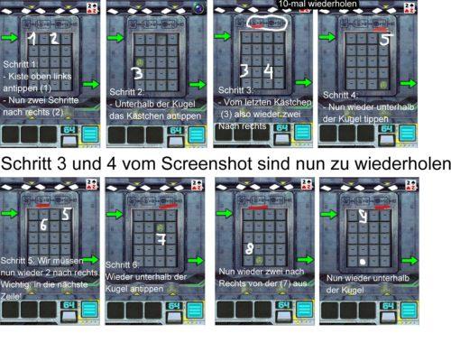 100 Doors Aliens Space Level 64 Lösung (Klicken zum Vergrößern)