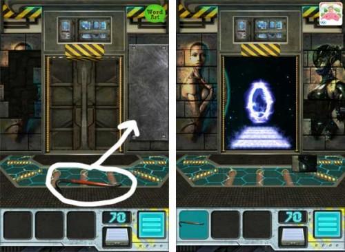 100 Doors Aliens Space Level 70 Lösung