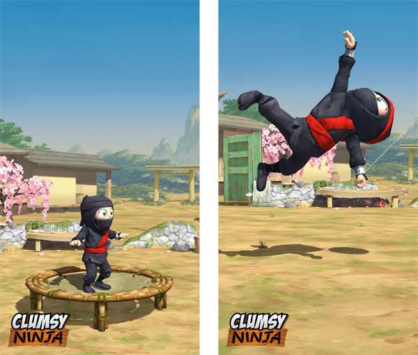 Clumpsy Ninja Trampolin springen oder an Arm und Bein ziehen - Euch überlassen