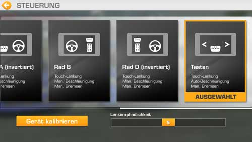 Die Steuerung in Real Racing 3