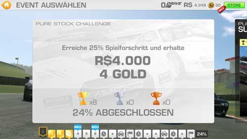 Real Racing 3: Spielfortschritt erreichen und Gold kostenlos bekommen