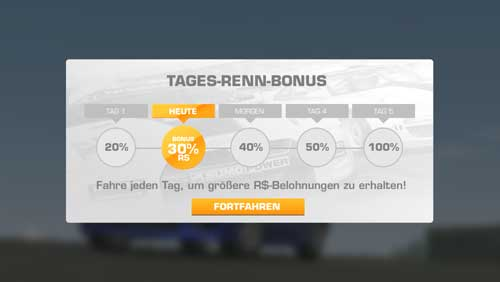 Tages-Renn-Bonus in Real Racing 3