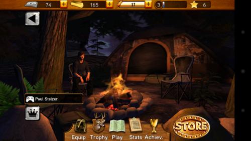 Der Startbildschirm von Cabela's Big Game Hunter