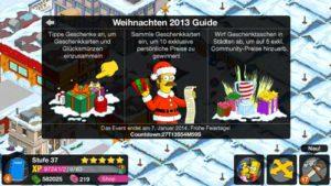 Die Simpsons Springfield Weihnachten 2013 Guide von Electronic Arts