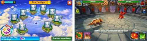Kampf in der Drachenliga von Dragons World
