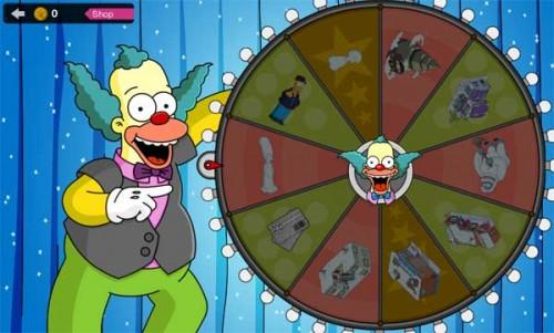 Simpsons Springfield: Erdrehe dir am Glücksrad von Krusty Dekorationen und weitere Dekorationen, Kostüme und Gebäude