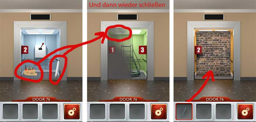 Lösung 100 Doors 2