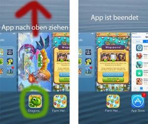 App unter iOS 7 beenden