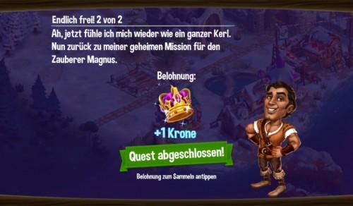 CastleVille Legends Screenshot Krone erhalten