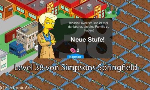 Simpsons Springfield Level 38: Tipps, Storyline und mehr zum Update