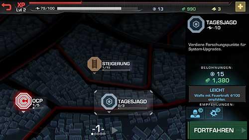 Missionen in der RoboCop App