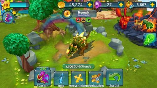 Raubdrache in Dragons World - Seltene Drachen bekommen