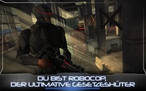 Screenshot RoboCop App von Glu