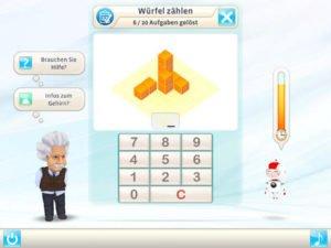 Verschiedene Aufgaben fordern dich in Einstein Gehirntrainer von BBG Entertainment heraus