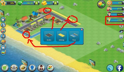 City Island 2 Screenshot Wege