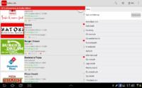 Lieferando Screenshot mit Lieferdiensten und Filter