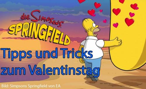 Alle Informationen zum Valentinstag 2014 Update in Simpsons Springfield von EA