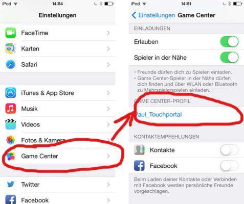 Game Center Namen ändern