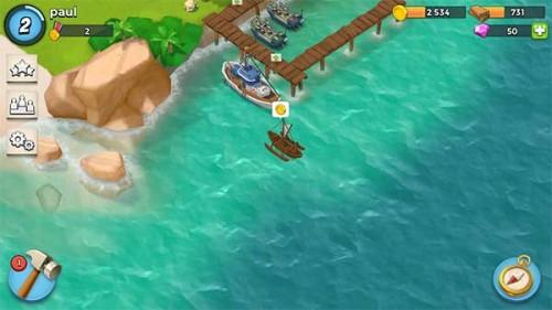 Ihr bekommt von anderen Inseln Gold in Boom Beach, wenn ihr diese befreit.
