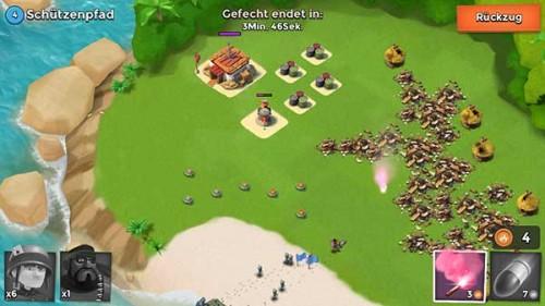 Boom Beach: Torpedo und Leuchtrakete sinnvoll einsetzen - so können wir unsere Truppen um die Minen herum führen