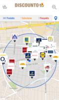 Discounto zeigt diverse Händler in der Umgebung an