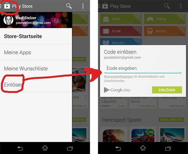 google play gratis guthaben code