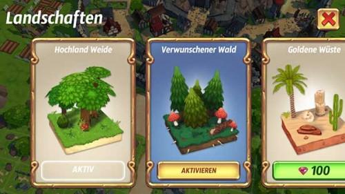 Landschaften in Royal Revolt 2