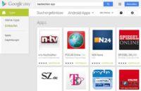 Nachrichten Apps bei Google Play für Android