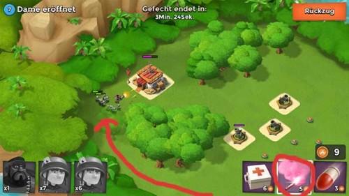 Tipp: Weist euren Einheiten in Boom Beach mit Leuchtraketen den Weg um die Verteidigung des Gegners